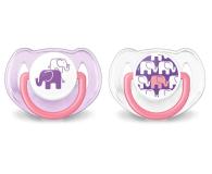 Philips Avent Smoczek Ortodontyczny 6-18m+ 2szt Różowy - 329116 - zdjęcie 1