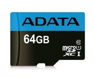 ADATA 64GB microSDXC Premier 100/25 MB/s A1 V10 - 401958 - zdjęcie 1