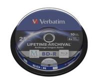 Verbatim  M-DISC 25GB X4 INKJET PRINTABLE (10 CAKE) - 454879 - zdjęcie 1