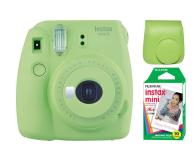 Fujifilm Instax Mini 9 zielony + wkład 10PK + pokrowiec - 393612 - zdjęcie 1