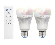 WiZ Colors RGB LED (E27/806lm) 2szt.+pilot - 461170 - zdjęcie 1