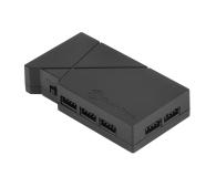 SilverStone RGB-LED-Hub + 2xLED czarny - 406463 - zdjęcie 1