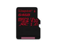 Kingston 64GB microSDXC Canvas React 100MB/s UHS-I V30 A1 - 415520 - zdjęcie 1