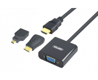 Unitek Adapter HDMI, mini HDMI, micro HDMI - VGA+audio - 417527 - zdjęcie 1
