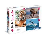 Clementoni Puzzle Animals 3x1000 el. - 416838 - zdjęcie 1