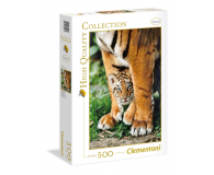 Clementoni Puzzle HQ Bengal Tiger Cub Between Its Mother'S Legs - 417078 - zdjęcie 1