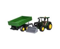 Bruder Traktor John Deere 5115M z ładowaczem i przyczepą - 435174 - zdjęcie 1