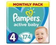 Pampers Active Baby 4 Maxi 9-14kg 174szt Zapas na miesiąc - 472752 - zdjęcie 1