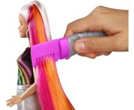 Barbie Błyszczące tęczowe włosy Lalka - 471309 - zdjęcie 2