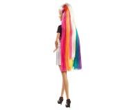 Barbie Błyszczące tęczowe włosy Lalka - 471309 - zdjęcie 3