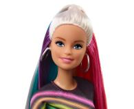 Barbie Błyszczące tęczowe włosy Lalka - 471309 - zdjęcie 5