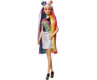 Barbie Błyszczące tęczowe włosy Lalka - 471309 - zdjęcie 9