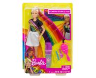 Barbie Błyszczące tęczowe włosy Lalka - 471309 - zdjęcie 11