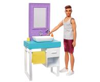 Barbie Ken zestaw z umywalką - 471448 - zdjęcie 1