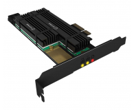 ICY BOX Karta rozszerzeń PCIe do SSD 2x M.2 Radiator - 507185 - zdjęcie 1