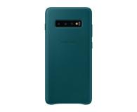 Samsung Leather Cover do Galaxy S10+ zielony - 478405 - zdjęcie 1