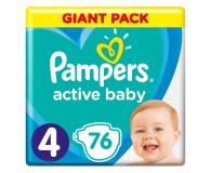 Pampers Active Baby 4 9-14kg 76szt Zapas - 482298 - zdjęcie 1