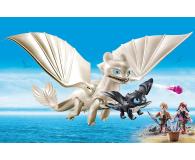PLAYMOBIL Biała Furia z małym smokiem i dziećmi - 478465 - zdjęcie 4