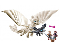 PLAYMOBIL Biała Furia z małym smokiem i dziećmi - 478465 - zdjęcie 2