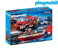 PLAYMOBIL Samochód strażacki z łodzią strażacką - 483436 - zdjęcie 1