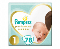 Pampers Premium Care 1 Newborn 2-5kg 78szt  - 485689 - zdjęcie 1