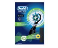 Oral-B Pro 750 Black New + Zestaw Płyn + Pasta  - 498251 - zdjęcie 3