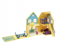 TM Toys Świnka Peppa Domek deluxe z 4 figurkami - 206837 - zdjęcie 1