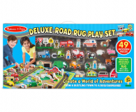 Melissa & Doug Deluxe Road Rug Play Set mata 49 el - 500655 - zdjęcie 1