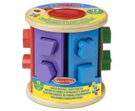 Melissa & Doug Drewniany walec sorter kształtów i kolorów - 500695 - zdjęcie 1