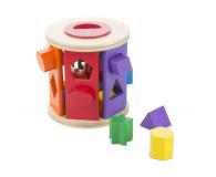 Melissa & Doug Drewniany walec sorter kształtów i kolorów - 500695 - zdjęcie 3