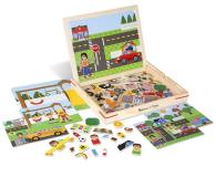Melissa & Doug Magnetyczna gra obrazkowa Miasto - 500775 - zdjęcie 1