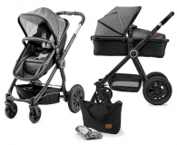 Kinderkraft Veo 2w1 Black/Gray - 463169 - zdjęcie 1