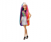 Barbie Błyszczące tęczowe włosy Lalka - 471309 - zdjęcie 1