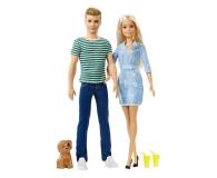 Barbie Zestaw Lalka i Ken z pieskiem - 452173 - zdjęcie 1