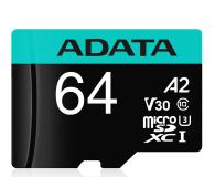 ADATA 64GB Premier Pro U3 V30S A2 + adapter  - 512448 - zdjęcie 1