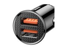 Baseus Ładowarka samochodowa 2x USB, 5A, QC 3.0, 30W - 509232 - zdjęcie 5