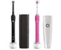 Oral-B Pro 750 czarna + Pro 750 różowa - 519442 - zdjęcie 1