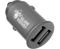 Silver Monkey Ładowarka samochodowa 2x USB, 24W - 536250 - zdjęcie 2