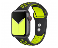 Tech-Protect Pasek Softband do Apple Watch black/lime - 605328 - zdjęcie 1