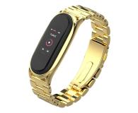 Tech-Protect Bransoleta Stainless do Xiaomi Mi Band 5 gold - 605432 - zdjęcie 1