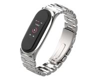 Tech-Protect Bransoleta Stainless do Xiaomi Mi Band 5 silver - 605434 - zdjęcie 1