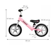 KIDWELL Rowerek biegowy Rebel Pink - 558833 - zdjęcie 2