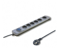 Qoltec Quick Switch - 6 gniazd, 1,8m - 462007 - zdjęcie 1