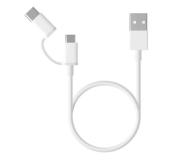 Xiaomi Mi 2-in-1 USB Cable (Micro USB to Type C) 30cm - 590964 - zdjęcie 1