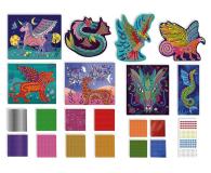 Janod Zestaw kreatywny Mozaika  Fantastyczne stworzenia 7+ - 1017239 - zdjęcie 2