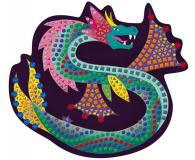 Janod Zestaw kreatywny Mozaika  Fantastyczne stworzenia 7+ - 1017239 - zdjęcie 4