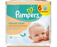 Pampers Chusteczki Nawilzane Natural Clean 6x 64szt - 256797 - zdjęcie 1