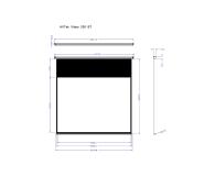 Avtek Ekran ręczny 96' 195x146,5 4:3 Biały Matowy  - 337624 - zdjęcie 2