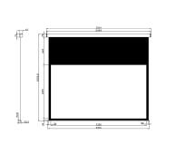 Avtek Ekran ręczny 107' 230x129,5 16:9 Biały Matowy  - 337701 - zdjęcie 2