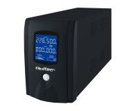 Qoltec UPS (600VA/360W, IEC, 2xSchuko, LCD) - 337980 - zdjęcie 1